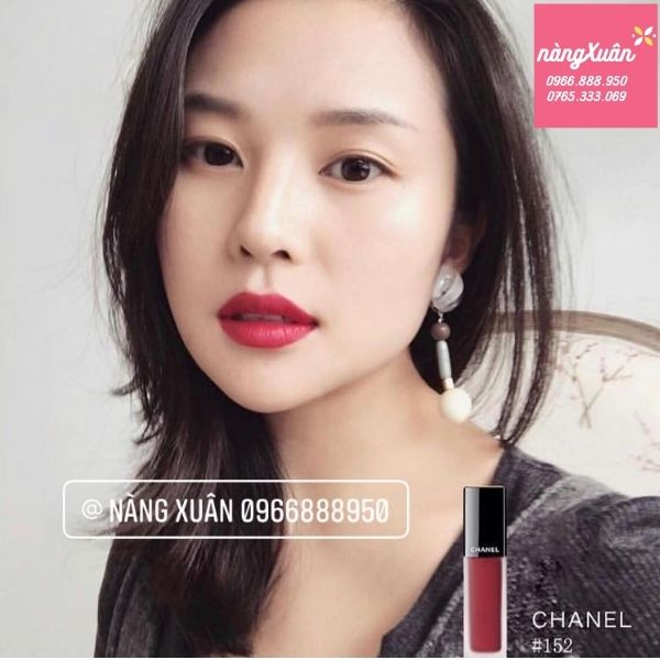 Review son Chanel Rouge Allure Ink 152 màu đỏ thẫm