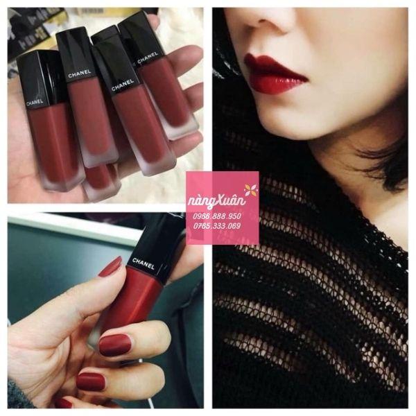 Son Chanel Rouge Allure Ink 154 màu đỏ mận