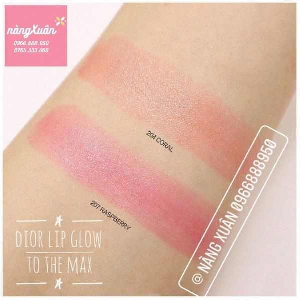 Swatch son DIOR Lip To The Max 204 và 207