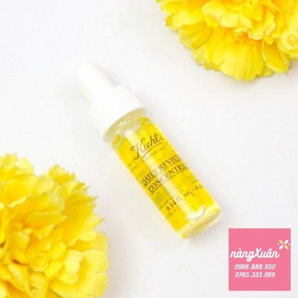 Review serum dưỡng ban ngày Kiehls Daily Reviving Concentrate mini 4ml