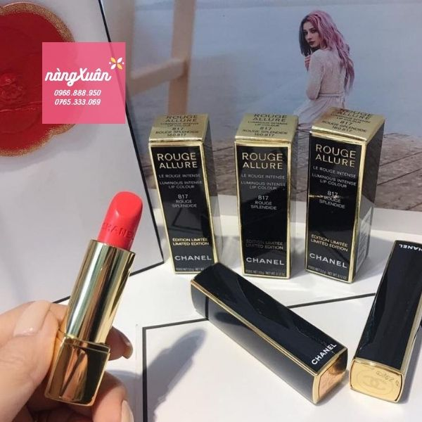 Son màu hồng tươi của Chanel Rouge Allure Luminous Intense 817