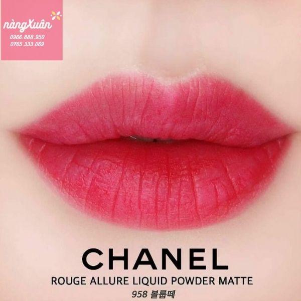 Son Chanel 958 Volupte màu hồng dâu