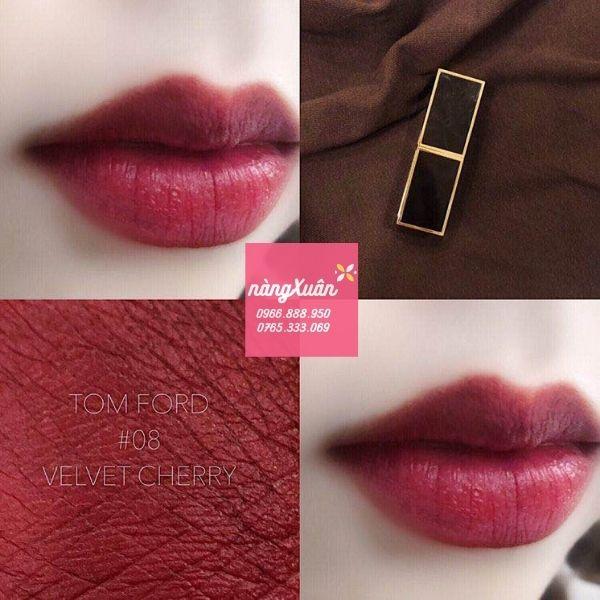Review son TF 08 Velvet Cherry màu đỏ rượu vang