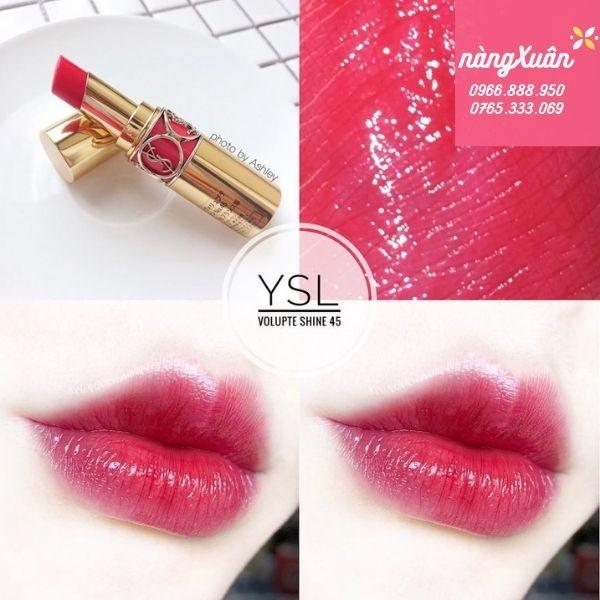 Son YSL Rouge Volupte Shine 45 là màu gì ?