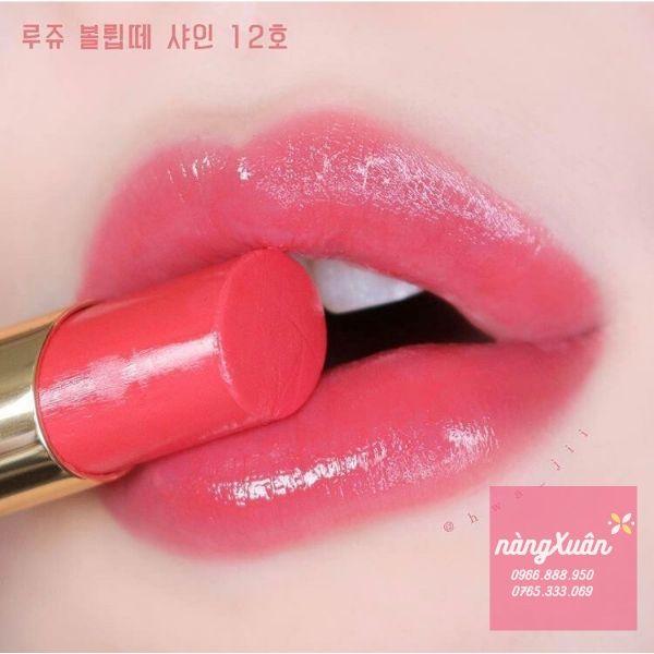 Swatch son YSL 12 màu hồng cam