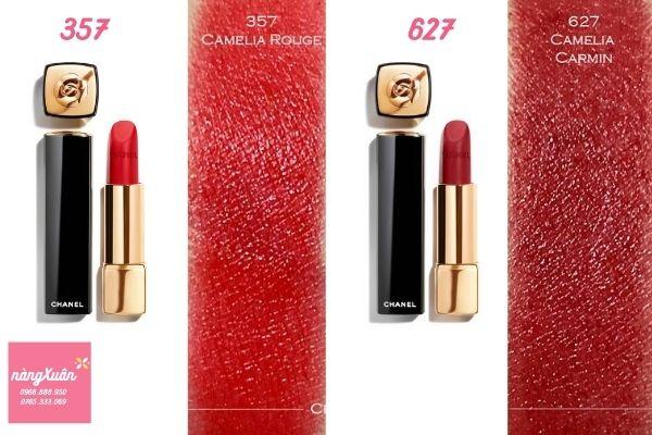 Bảng màu Son Chanel Rouge Allure Velvet Camelia