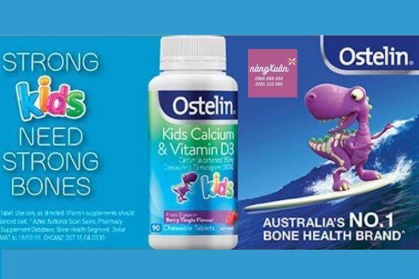 Canxi Vitamin D3 Ostelin cho trẻ từ 2 đến 13 tuổi