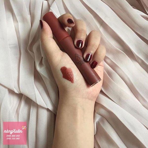 Swatch chất son 3CE Velvet Lip Tint