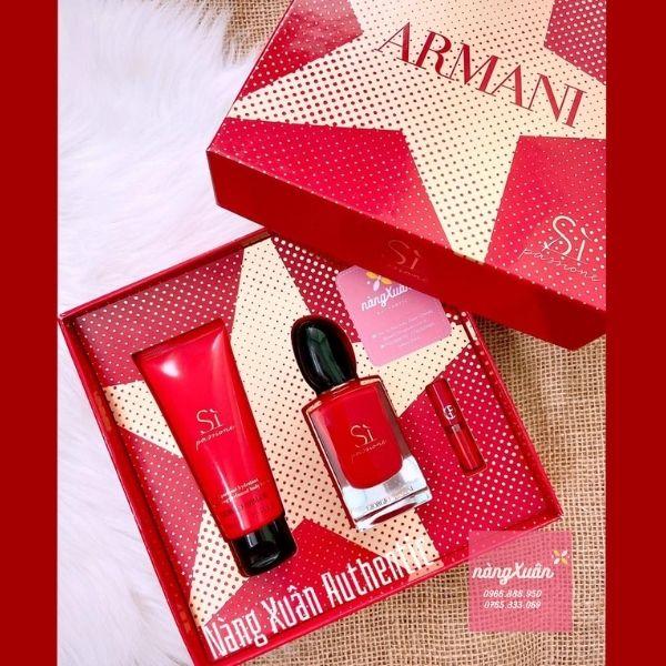 Set nước hoa Giogio Armani Sì đỏ EDP