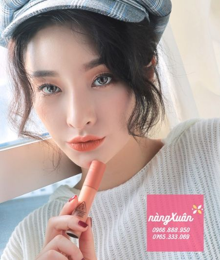 Review son 3CE Peach Tea Soft Lip Lacquer chính hãng