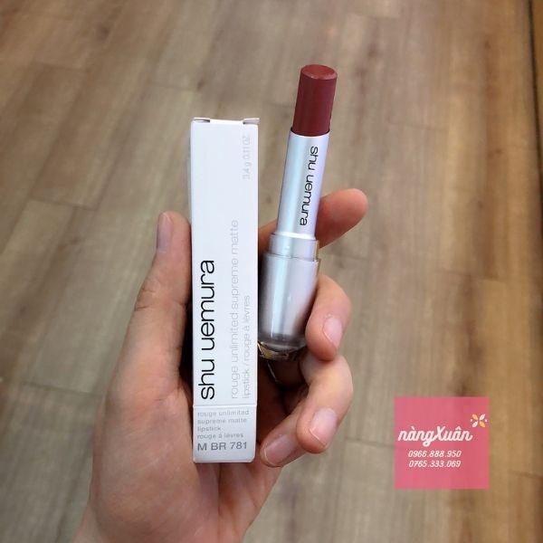 Shu Lipstick vỏ trắng chính hãng