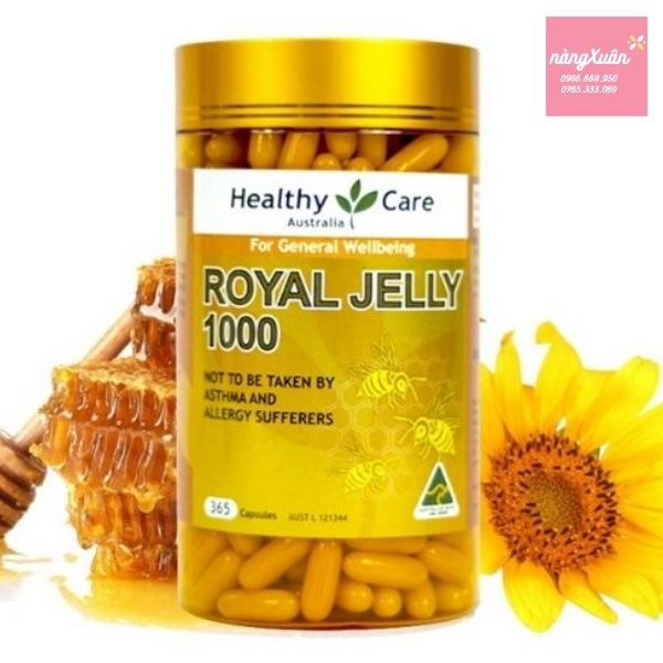 Review Healthy Care Royal Jelly 1000mg của Úc