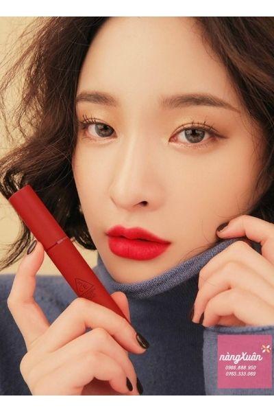 Son kem 3CE Velvet Lip Tint màu Đỏ Thuần