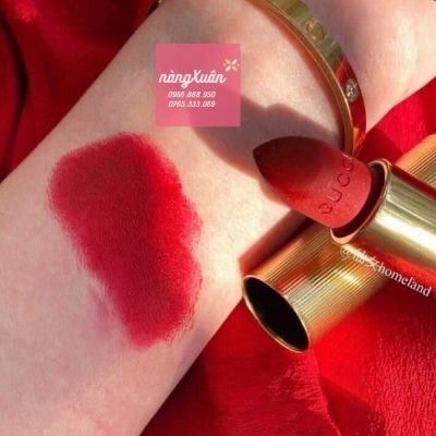 Review son Gucci 502 Eadie Scarlet màu Đỏ Hồng