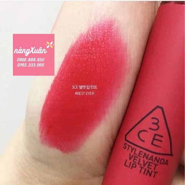 Swatch son 3CE Best Ever Velvet Lip Tint