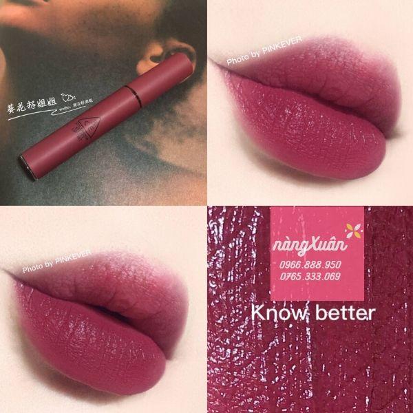 Review son 3CE Know Better Velvet Lip Tint