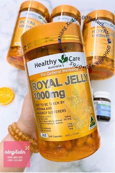 Review Viên sữa ong chúa Royal Jelly 1000mg 365 viên