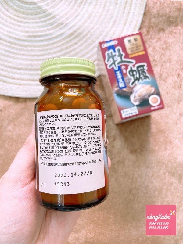 Viên uống Tinh Chất Hàu Tươi Orihiro Nhật