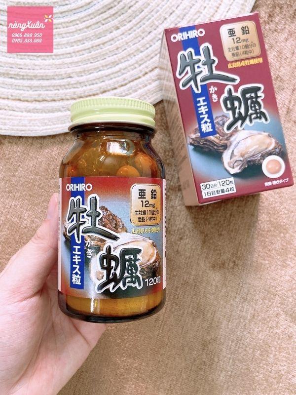 Viên uống Hàu Orihiro Nhật cải thiện chất lượng tinh trùng