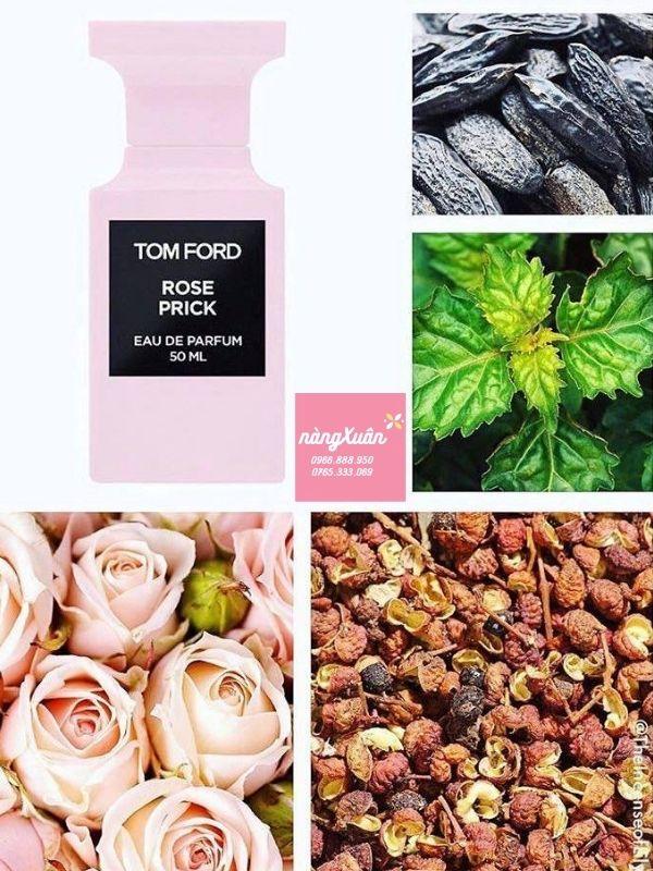Review mùi hương ROSE PRICK màu hồng.