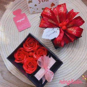 Hộp quà hoa hồng sáp