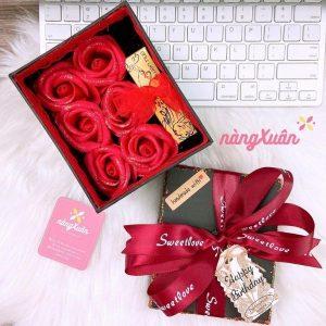 Hộp quà hoa hồng sáp thơm