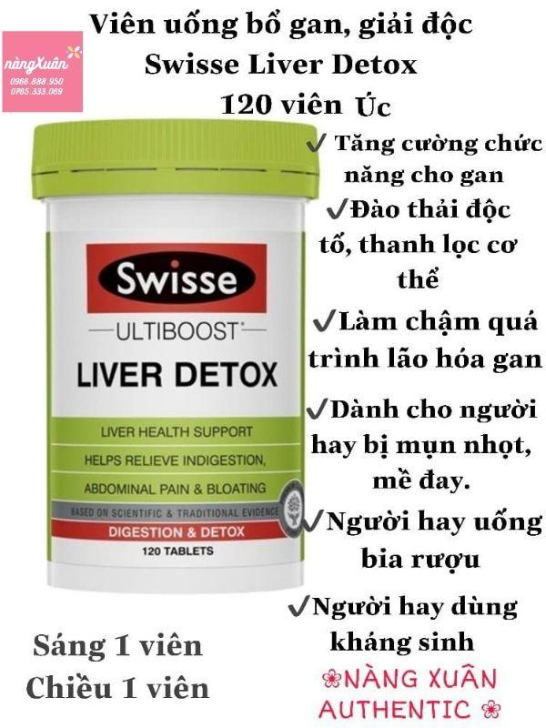 Công dụng giải độc gan Swisse