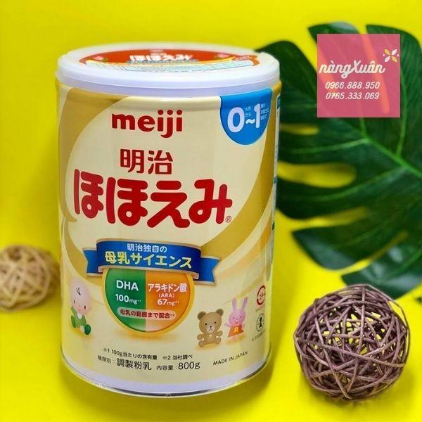 Sữa Meiji độ tuổi 0-1 chính hãng
