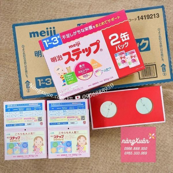Sữa Meiji 1-3 xách tay nhật