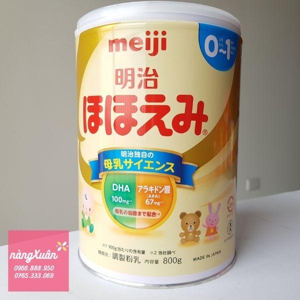 Sữa Meiji dành cho trẻ dưới 1 tuổi