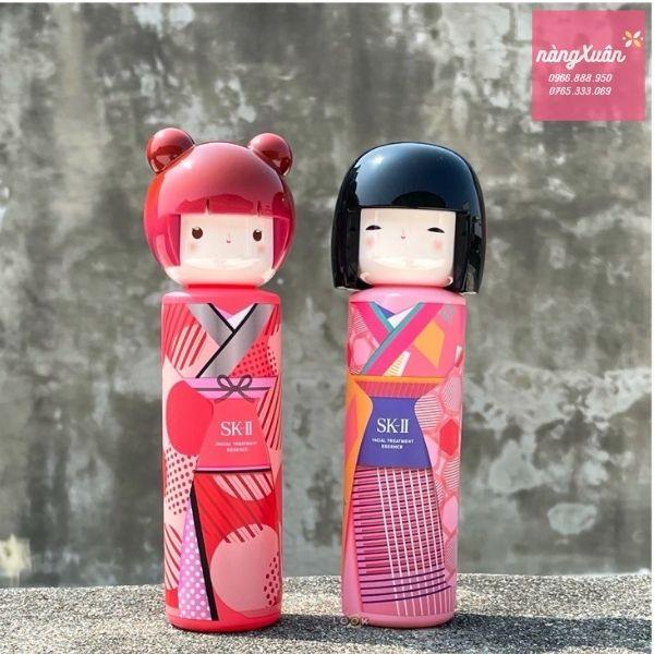 Thiết kế chai hình búp bê mặc kimono xinh xắn