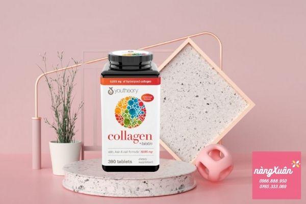 Công dụng viên youtheory collagen biotin