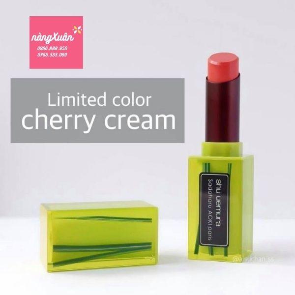 Son Shu Cherry Cream vỏ xanh