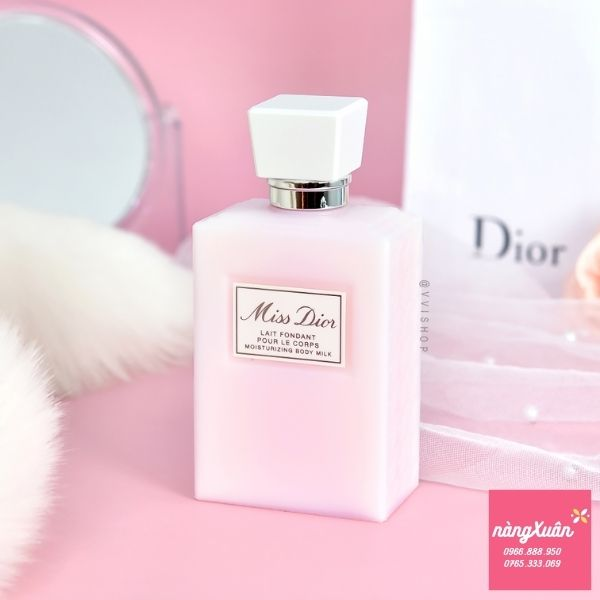 Review Dưỡng thể Miss Dior