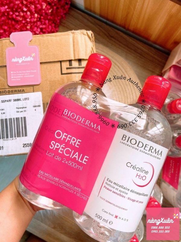 Nước tẩy trang Bioderma hồng review