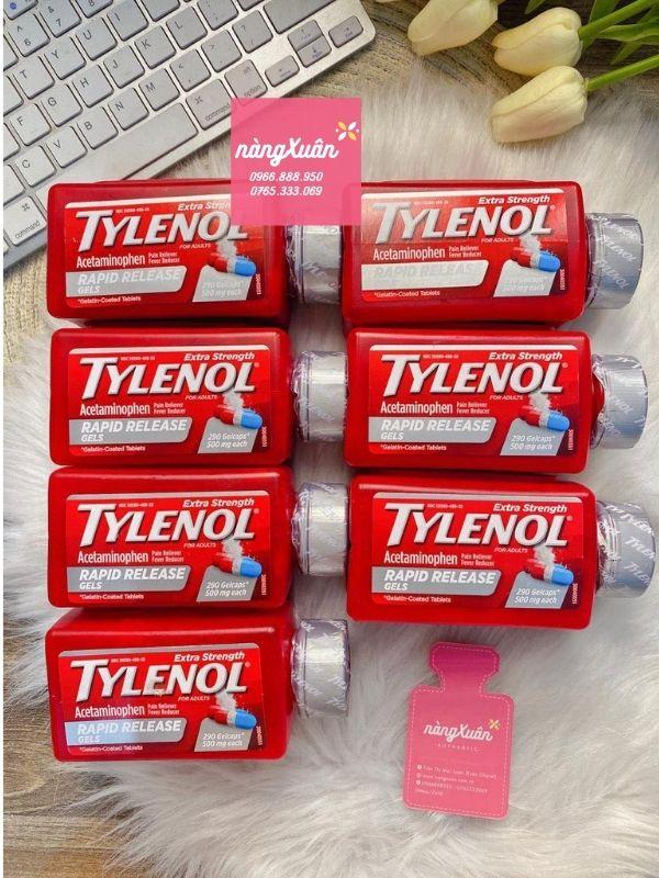 Thuốc Tylenol Extra Strength Rapid Release Gels 500mg Mỹ 290 viên