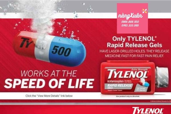 Tylenol Extra Strength Rapid Release Gels 500mg