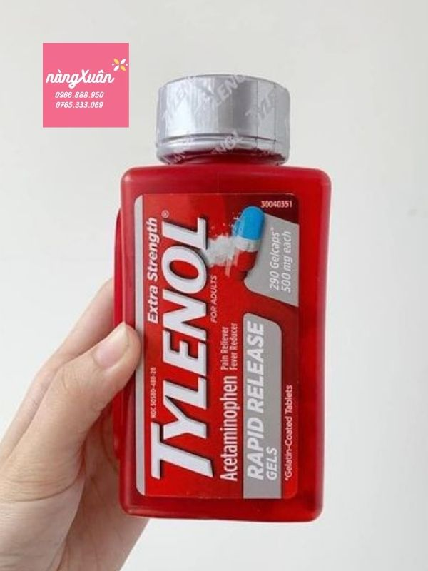 Tylenol Mỹ giá bao nhiêu.
