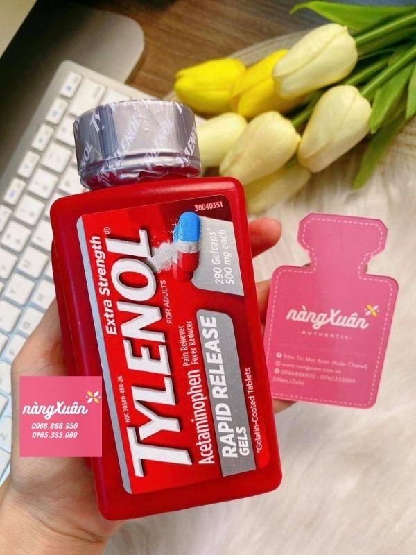 Cách uống Tylenol viên con nhộng ba màu