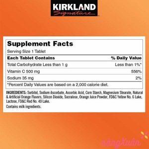 Vitamin C KIRKLAND 500mg